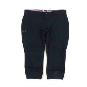 Under Armour Softball Baseball Pants Capri Black